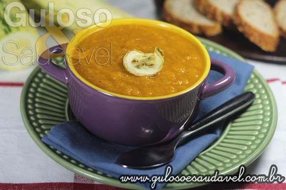 Receita de Sopa de Abobrinha Nutritiva