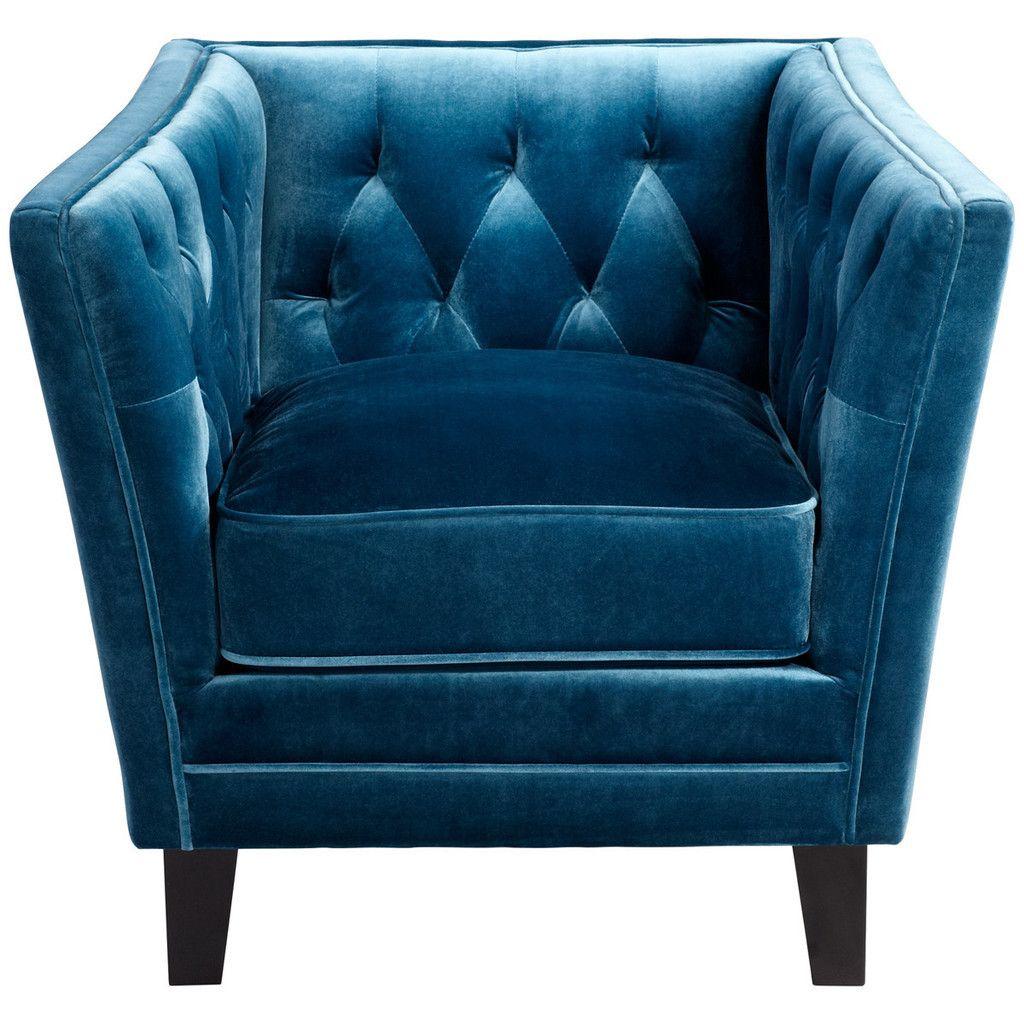 Blue prince valiant chair maison xxiv blue velvet