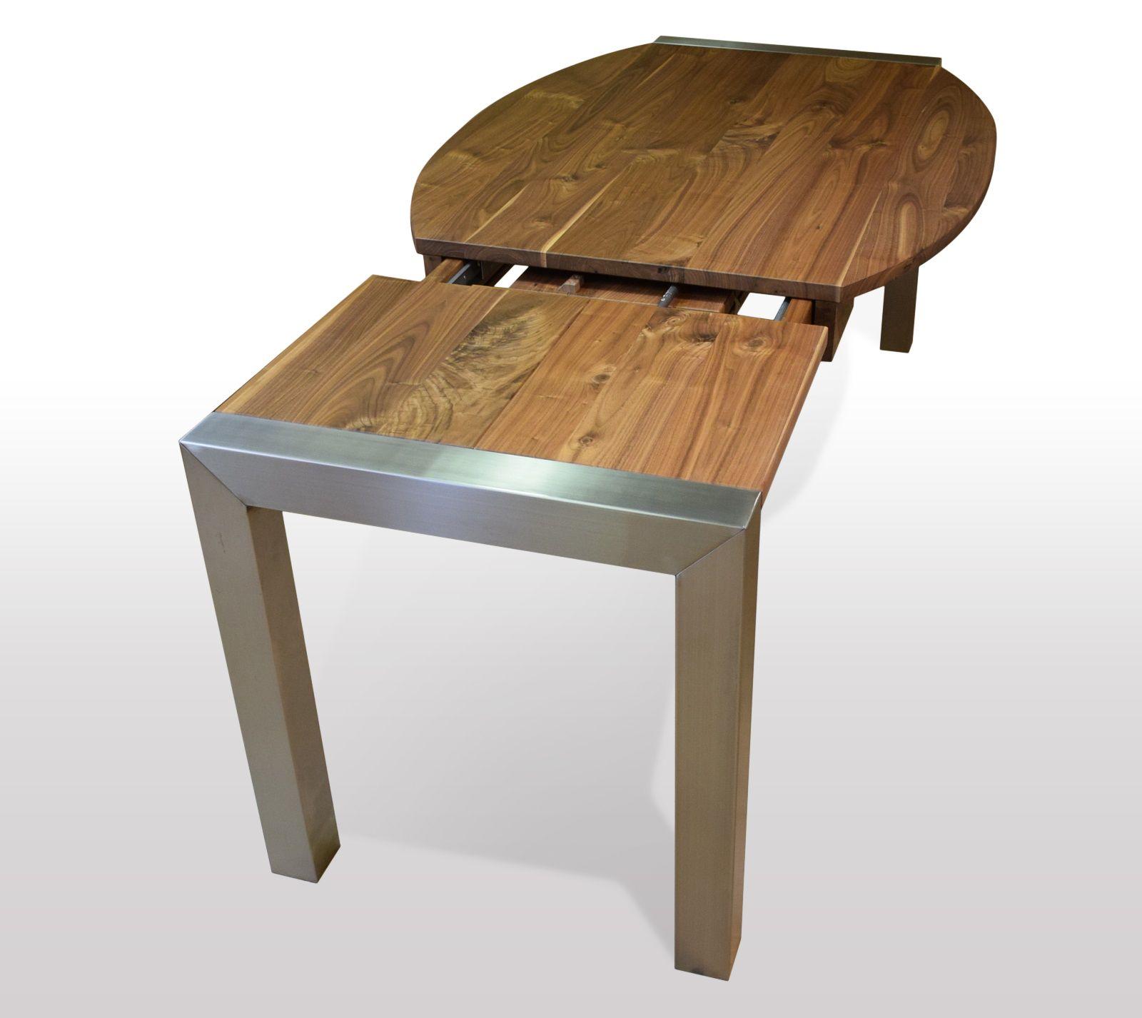 Tisch Nussbaum massiv Breite 80cm / Länge wählbar