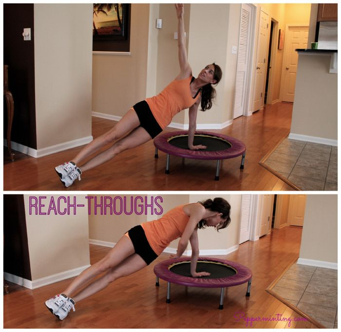 Mini Trampoline At-home Exercises! Awesome For Core Work