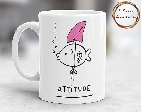 Attitude Coffee Mug, Attitude Mug, Funny Mug, Funny Quote Mug, Cute Mugs, Gift Mugs, Funny Gi...