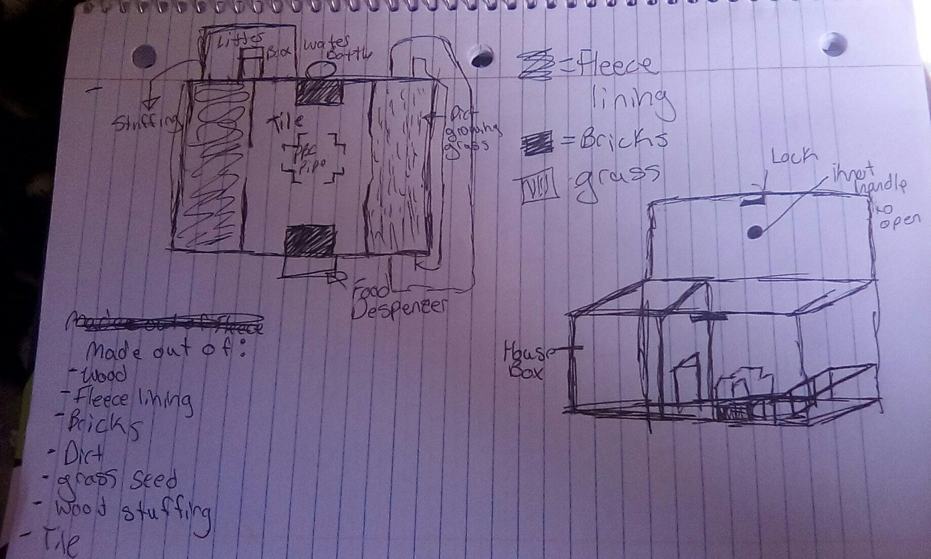 medium resolution of a sketch of my guinea pig cage idea