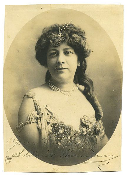 Herrmann, Adelaide. Signed Portrait of Adelaide Herrmann. New York: A... Lot 512