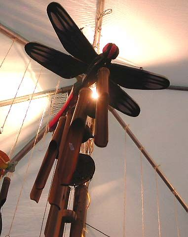 Online fine home decor, dragonfly bamboo wind chime home garden