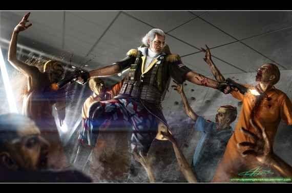 """George Washington: Zombie Hunter"""
