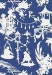Thibaut Resort - South Sea - Wallpaper - Navy