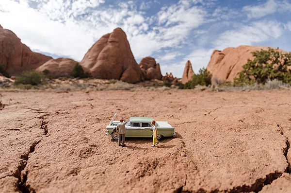 Un Petit Monde: Miniature Toy Figures in Real World Settings