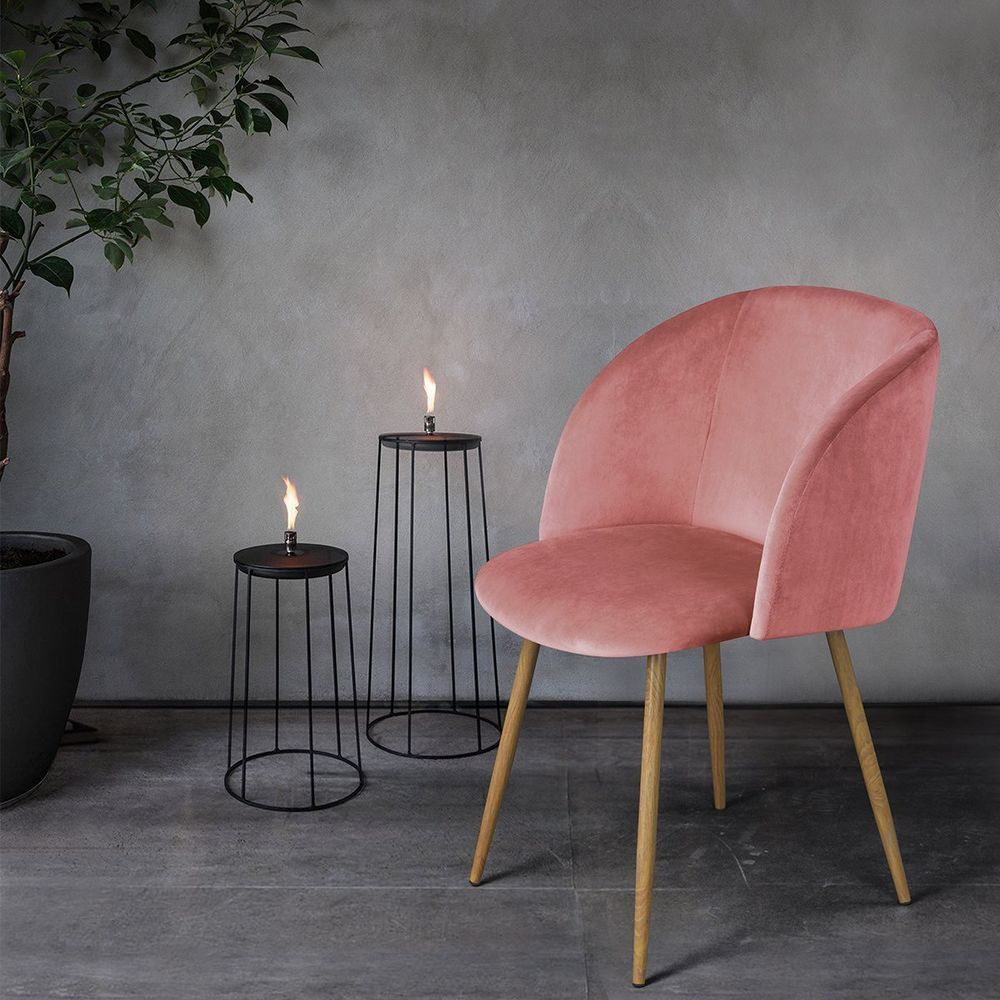 Details About 6 Colors Silky Velvet Accent Armchair Small