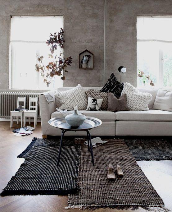 deco #salon #superposition #tapis What A Nice Salon Pinterest - decoration salle salon maison