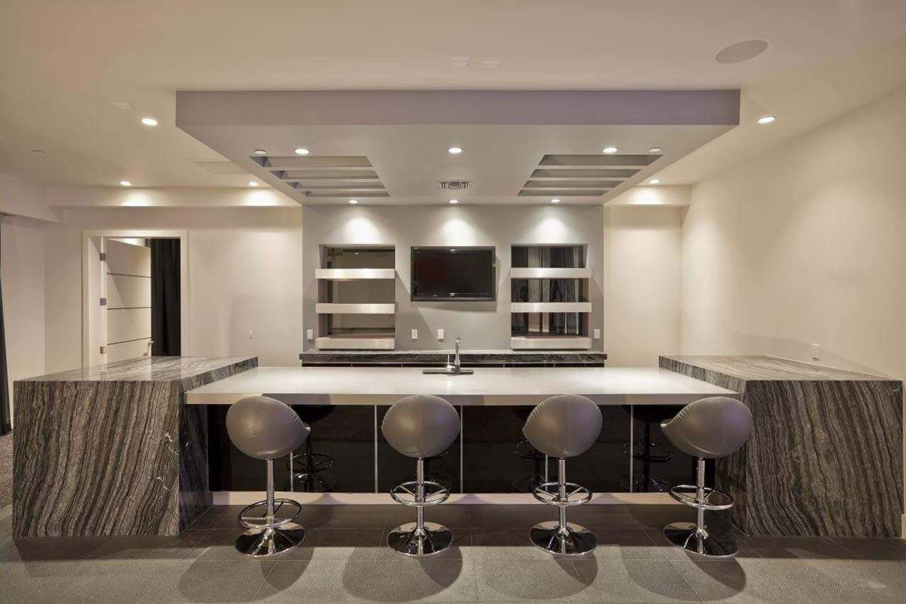 Interior Design Of Modern Basement Bar Design Ideas And House