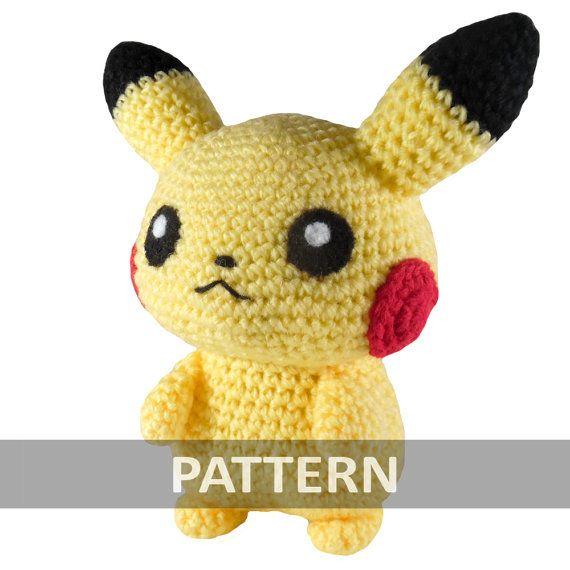 PATTERN Pikachu Amigurumi Crochet Plush PDF | Ganchillo, Patrones y ...