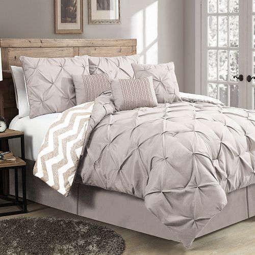 Avondale Manor Ella Pinch Pleat 7-pc. King Comforter Set Beige #AvondaleManor