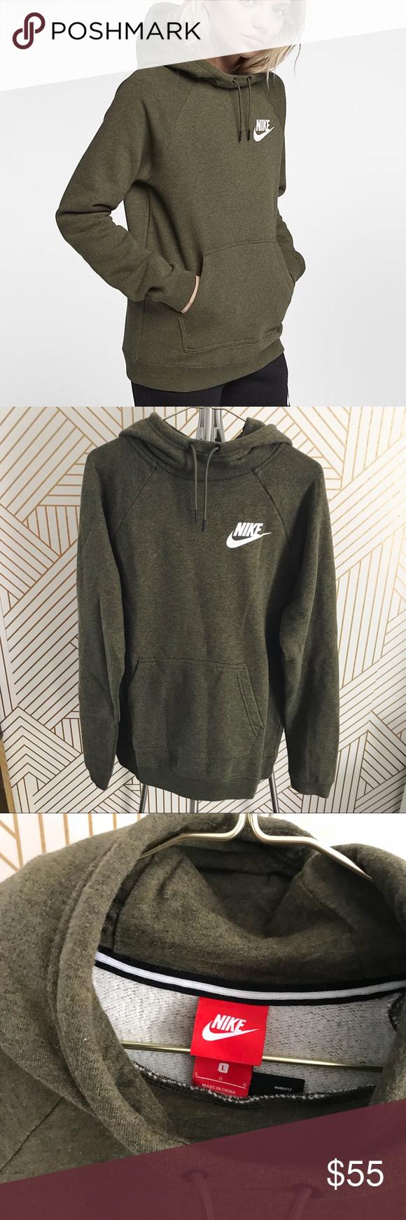 Nike Olive Green Funnel Neck Hoodie Funnel Neck Hoodie Hoodies Sweatshirts Hoodie [ 1740 x 580 Pixel ]