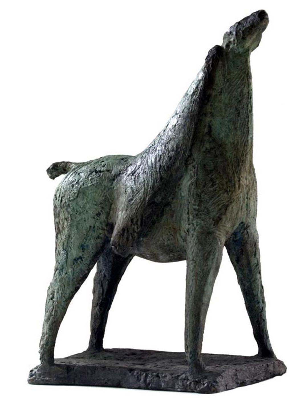 Shona Nunan's bronze sculpture 'Horse and Rider' - unique piece