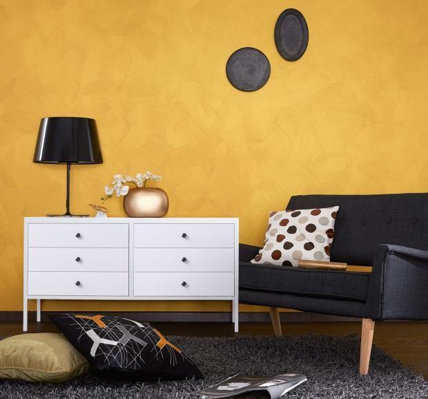 Kupfer und messing als wand und dekofarbe wandgestaltung for Wandfarbe gold farbe wandgestaltung