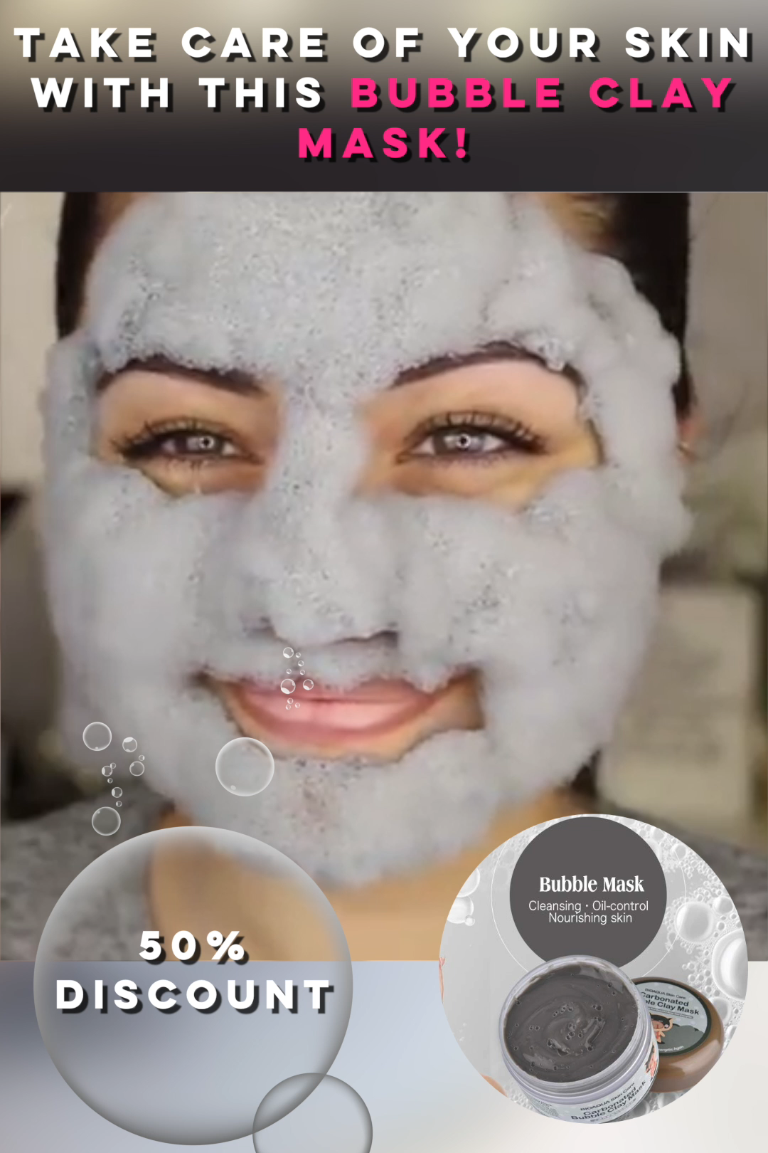 Carbonated Bubble Clay Mask - Couthier