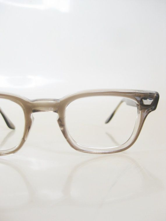 Vintage 1960s Horn Rim Reading Glasses Eyeglasses Light Brown Zycom ...