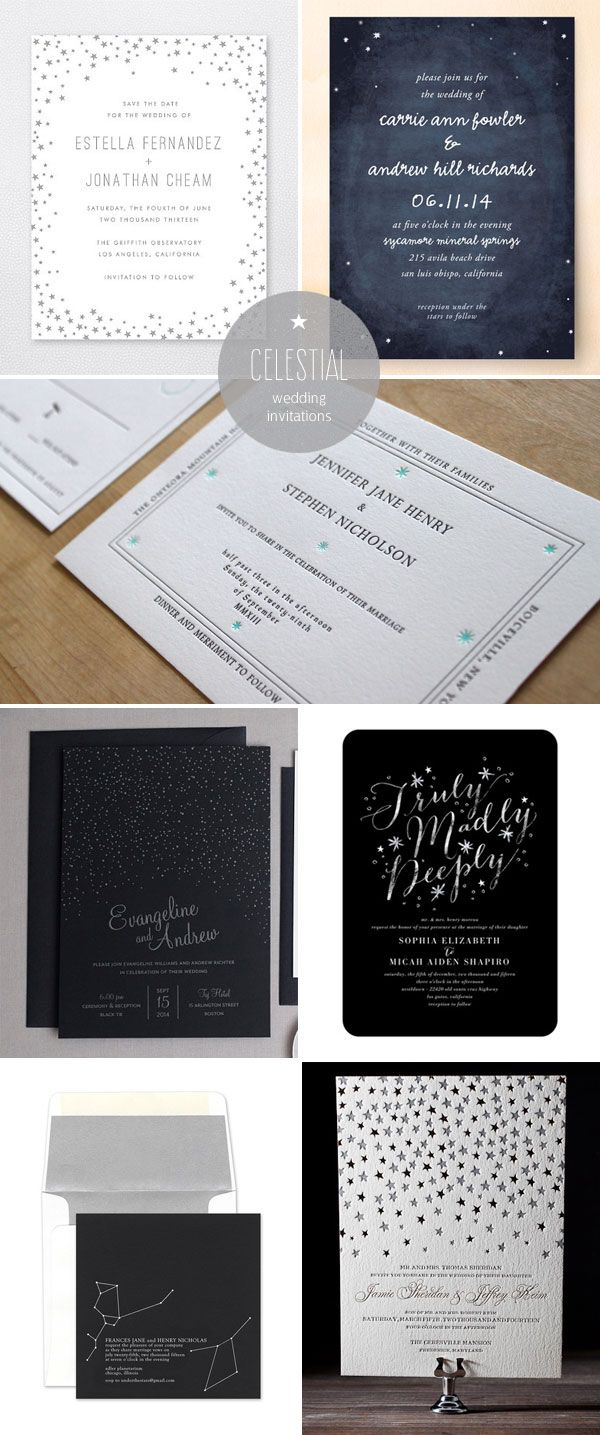 Star Constellation Wedding Invitation Ideas Paperie Pinterest