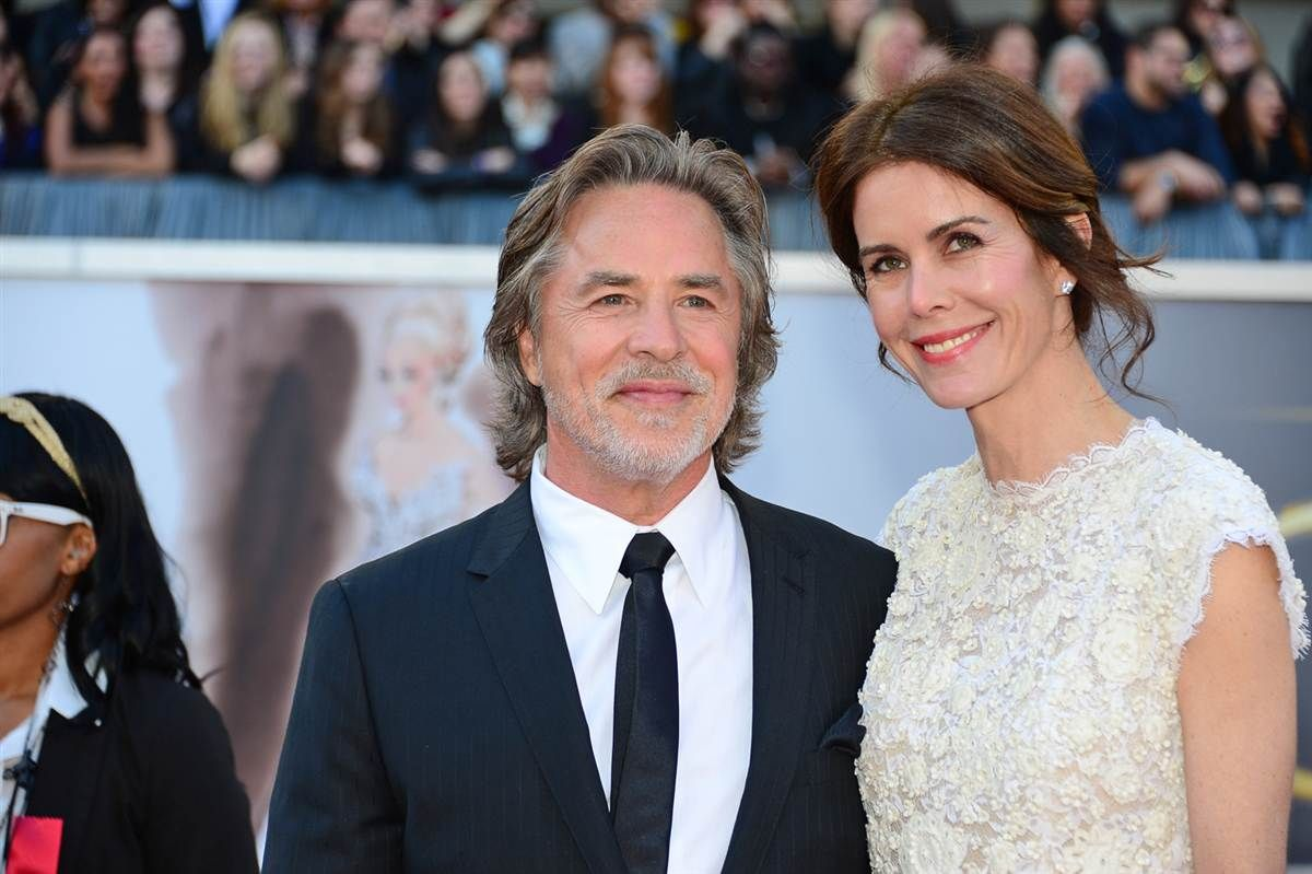 Don Johnson and wife Kelley Phleger Couples now and then