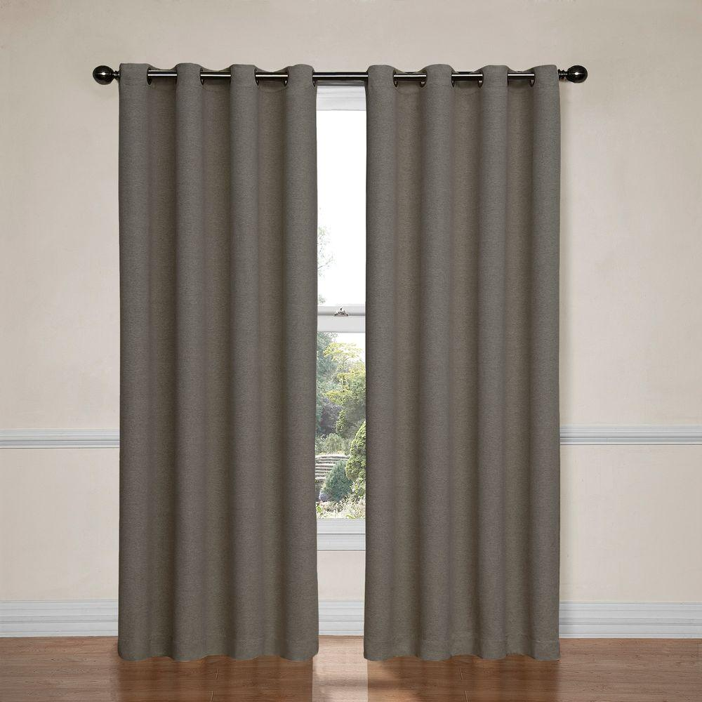 Eclipse Bobbi Blackout Window Curtain Panel In Ivory 52 In W X 63 In L Panel Curtains Curtains Eclipse Curtains