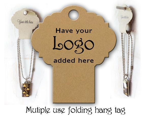 Necklace Display # 0214 Fold Over Hang Tags Necklace Hair ...