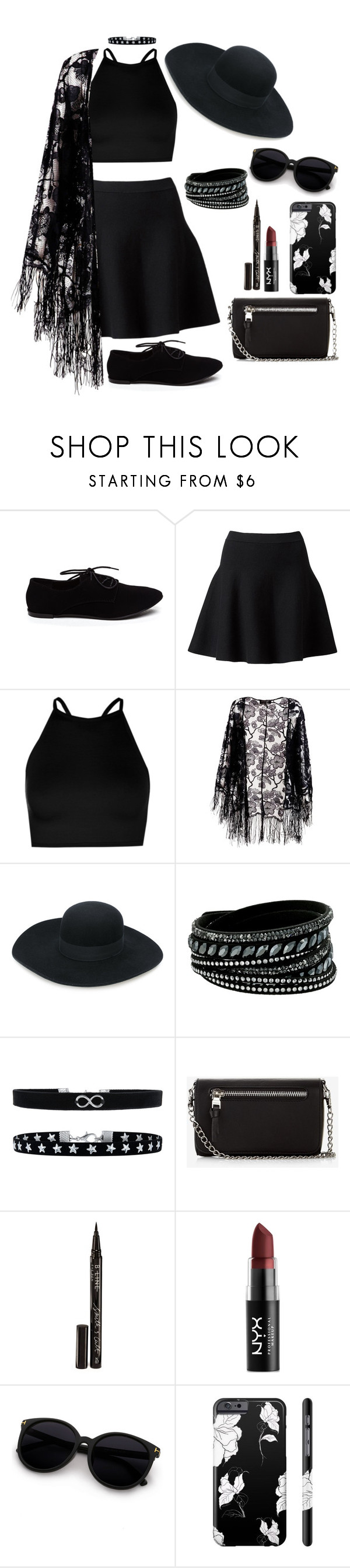 """""""Untitled #312"""" by nihility-of-our-existance on Polyvore featuring Witchery, Boohoo, Pussycat, Emporio Armani, Swarovski, Accessorize, Express, Smith & Cult and NYX"""