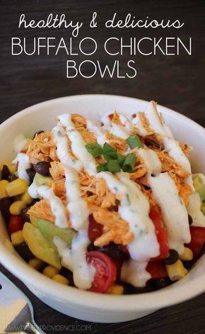 Gesunde Buffalo Chicken Bowls   – meals
