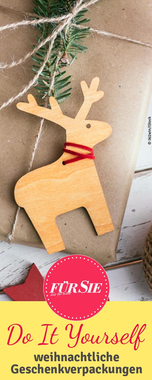 diy weihnachtliche geschenkverpackungen diy selbermachen pinterest weihnachten. Black Bedroom Furniture Sets. Home Design Ideas