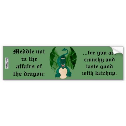 Funny Dragon Bumper Sticker Zazzle Com With Images Funny