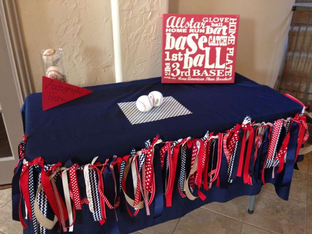 Vintage Baseball Baby Shower Party Ideas Baseball Baby Shower