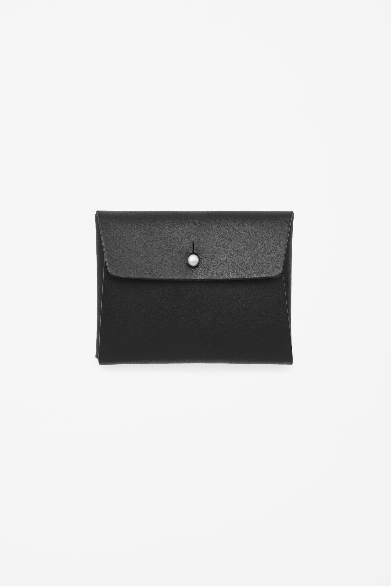 Folded leather cardholder