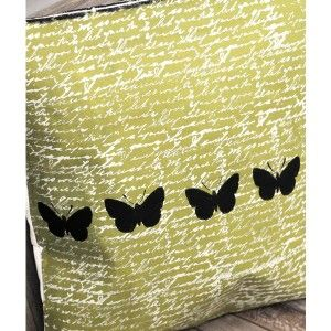 Butterfly Canvas Pillow Project - Canvas Corp Featured on Stampington