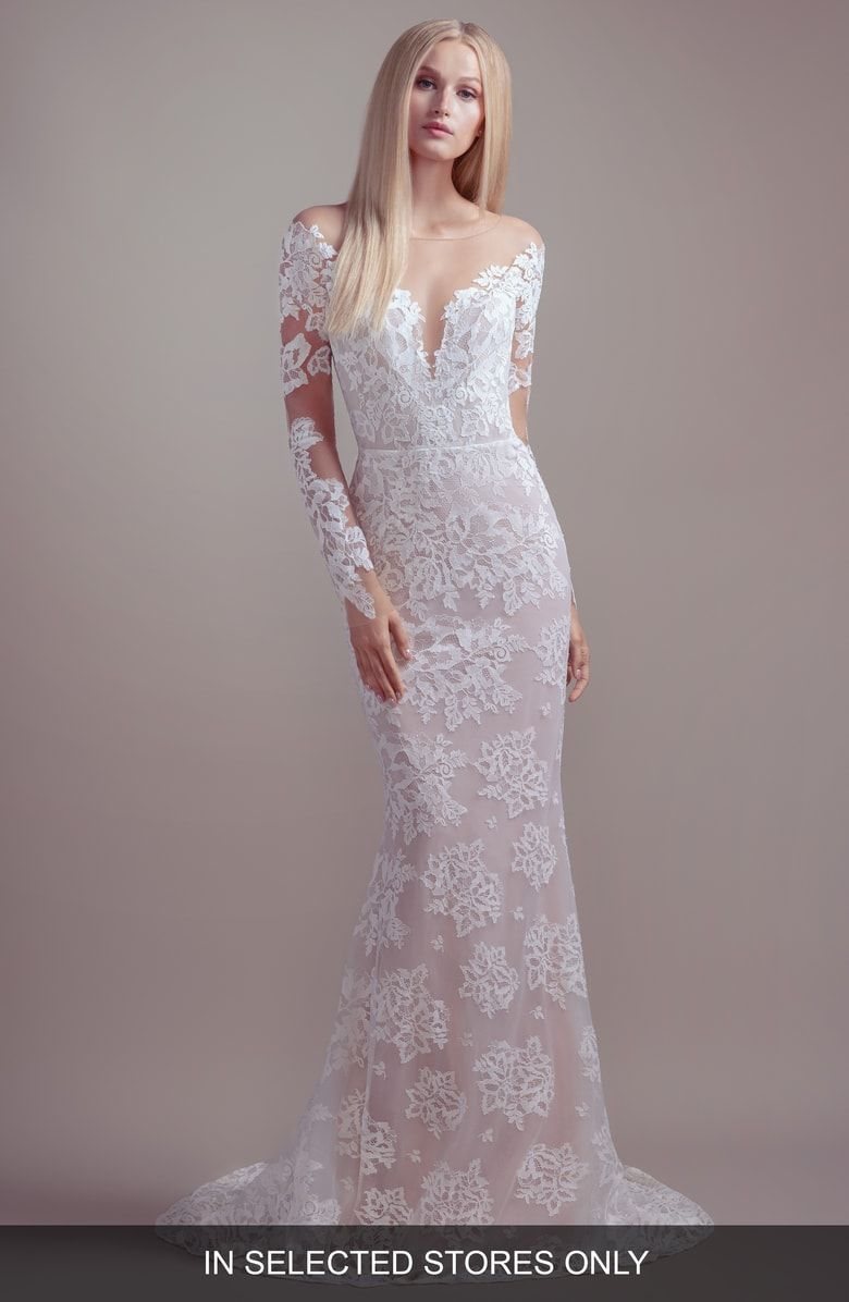 Free Shipping And Returns On Blush By Hayley Paige Jameson Off Long Sleeve Wedding Dress Lace Wedding Dress Long Sleeve Hayley Paige Wedding Dress Long Sleeve