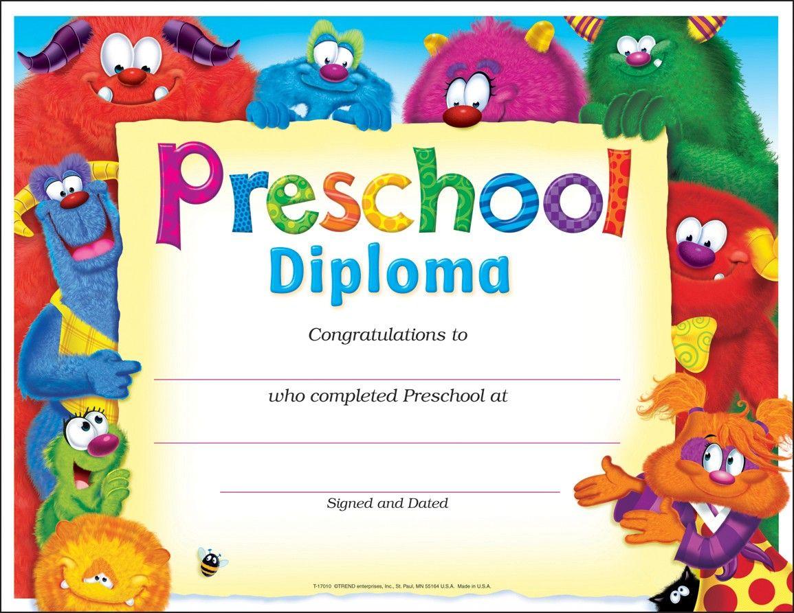 printable kindergarten diploma template
