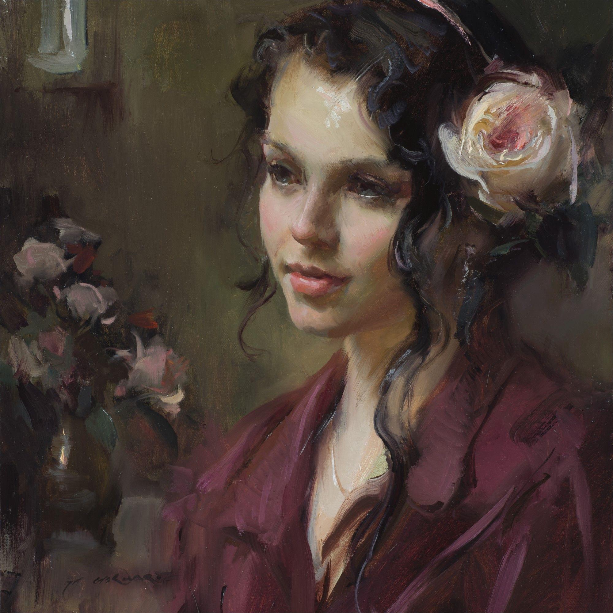 English Rose By Daniel Gerhartz Portrait Painting Portrait Art