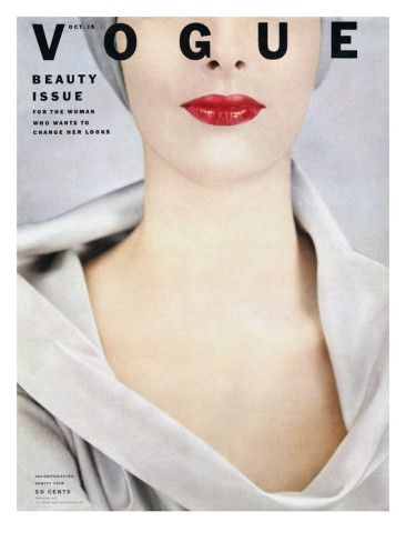 Vogue Cover - October 1952 Poster Print by Erwin Blumenfeld at the Condé Nast Collection