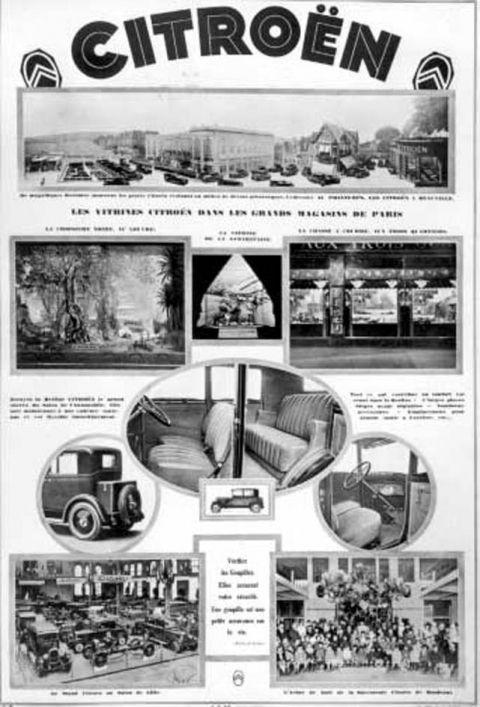 1927 affiche int rieur citro n en haut la vitrine. Black Bedroom Furniture Sets. Home Design Ideas