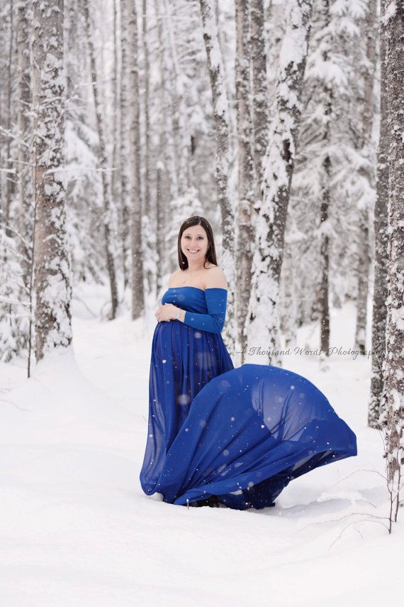 1d84526249487 Gorgeous royal blue maternity gown from chiffon and jersey knit top.Dress  is closed no split part . For request it can be made with open front