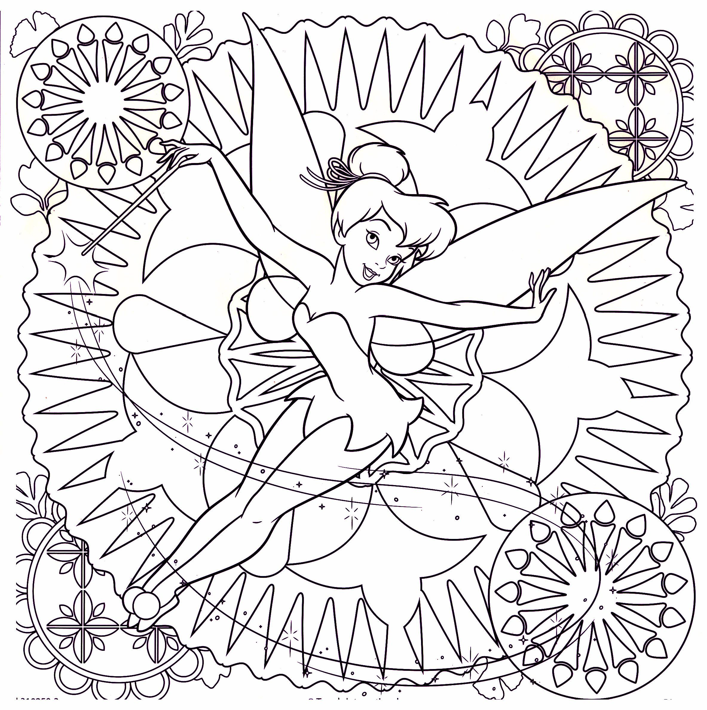 Tinkerbell Difficult Coloring Page | Malvorlagen | Pinterest ...