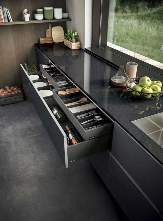 25 amazing contemporary kitchen decoration cabinets remodel ideas 10 | maanitech.com #kitchendesign #kitchenideas #contemporarykitcheninterior