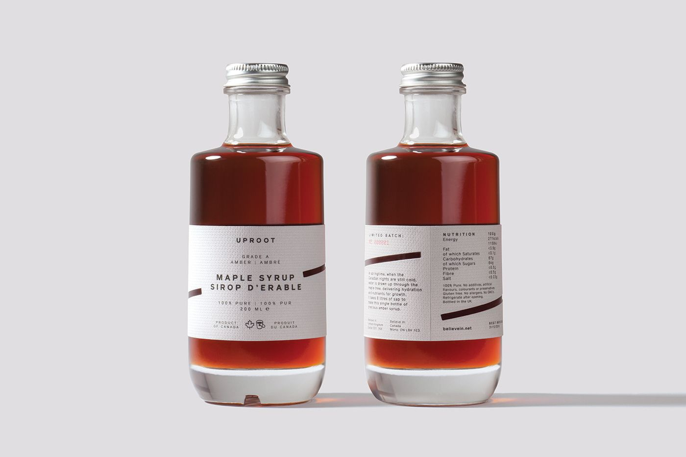 Uproot Bottle Maple Syrup Bottles Wine Bottle Design