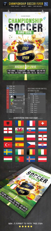 Championship Soccer   Flyer Template