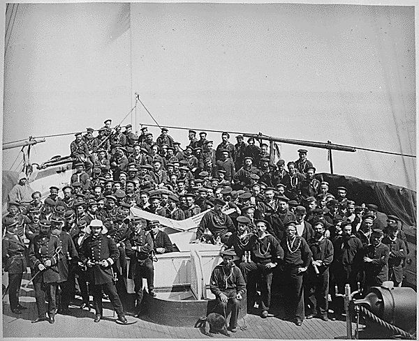 Officers and crew of the U.S.S. Monocacy, June 1871