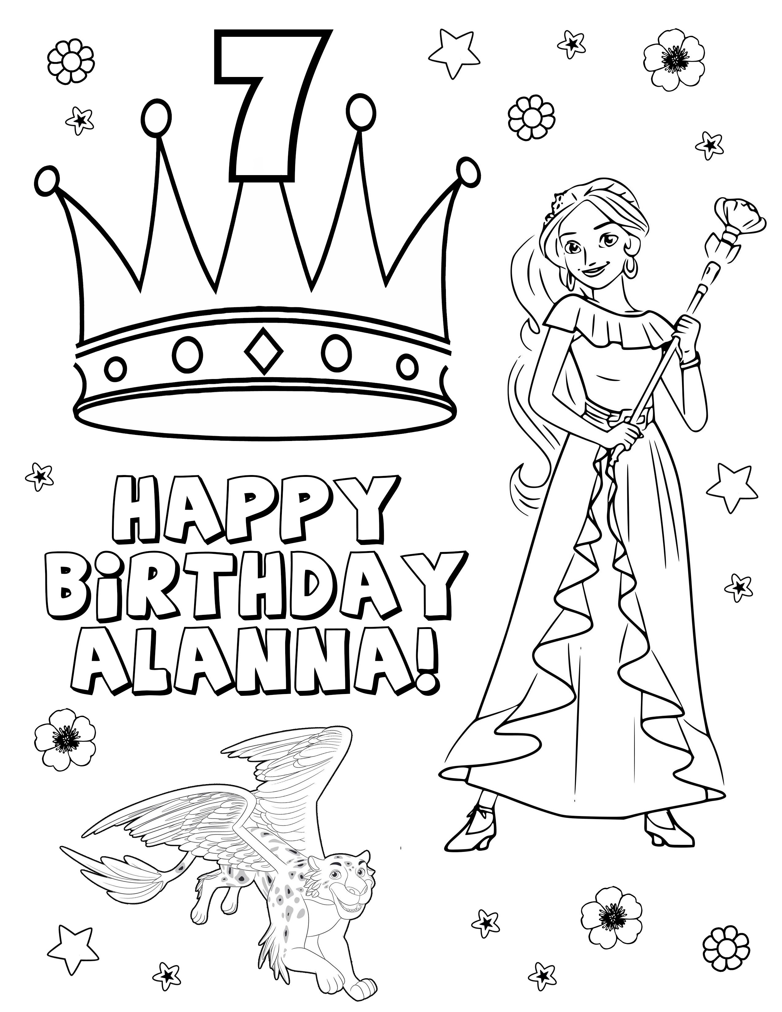 Elena Of Avalor Coloring Pages Elena Of Avalor Birthday Party Elena Of Avalor Print Elena Of Avalor Download Coloring Pages Birthday Happy Birthday
