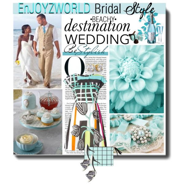 "Beachy Destination Wedding Contest: ""Tiffany Blue"" by enjoyzworld on Polyvore featuring ISOLA MARRAS, Dolce&Gabbana, Tiffany & Co., wedding, WhatToWear, beachwedding, destinationwedding and windowpanes"