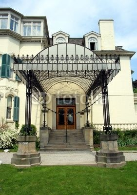entrance canopy, victorian mansion