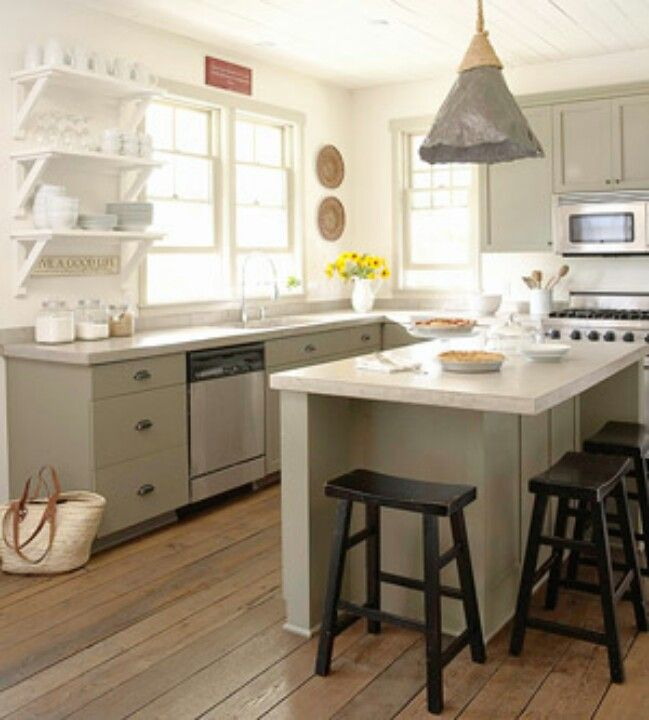Country Kitchen Green Cabinets: Green Kitchen Cabinets