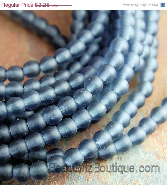 100 3mm Round Czech Glass Pressed Druk Beads Jet Black AB