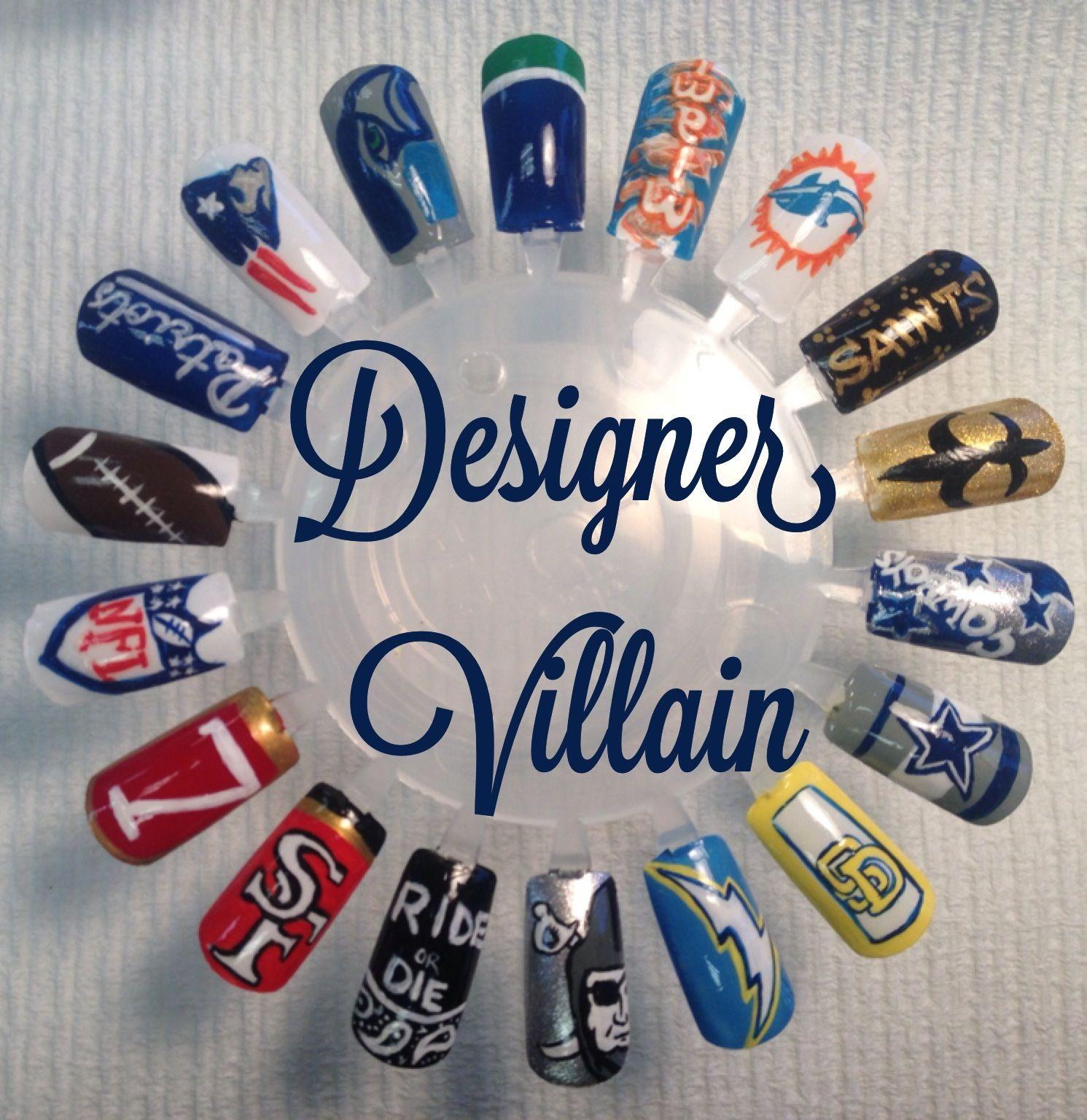 Football nail art - Football Nail Art Nails Pinterest Football Nail Art, Football