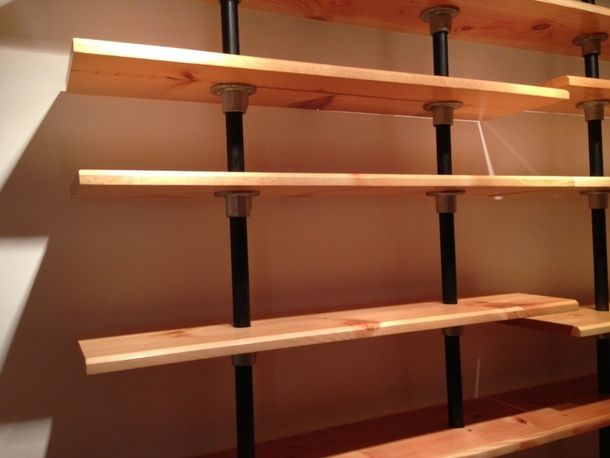 Pipe Wall Racks Pvc Pipe Bookcase Http Www